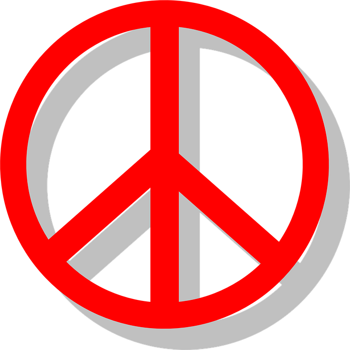 Peace Sign Red Free Vector Graphic On Pixabay