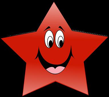 Star, Czerwony, Kształt, Twarz