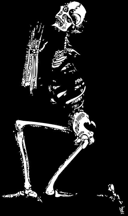Esqueleto Orar Hombre Grficos vectoriales gratis en Pixabay