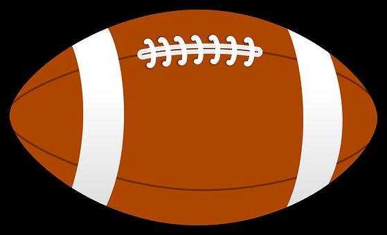Football Brown Pigskin Lace Sport Field Am