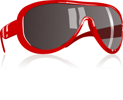 Red Sunglass Eyewear Protective Eyes Glass