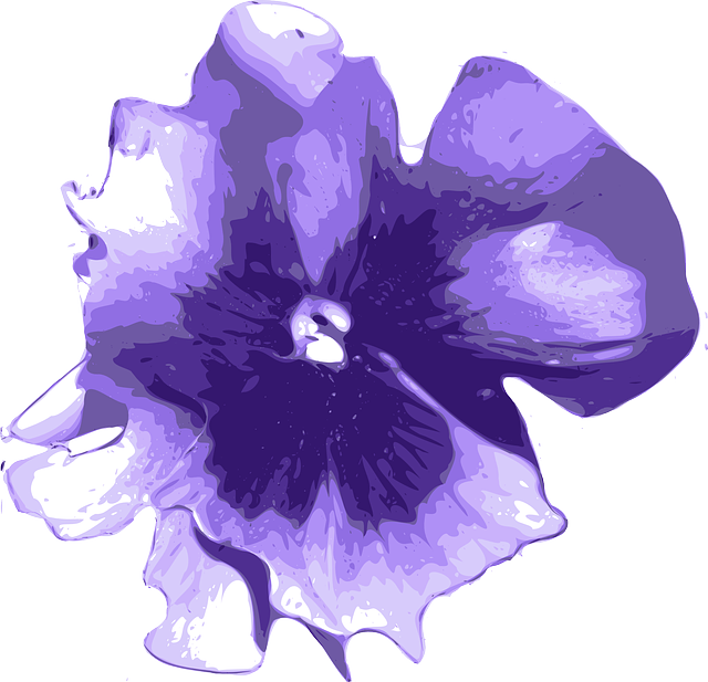 Free Vector Graphic Flower Purple Blue Petals