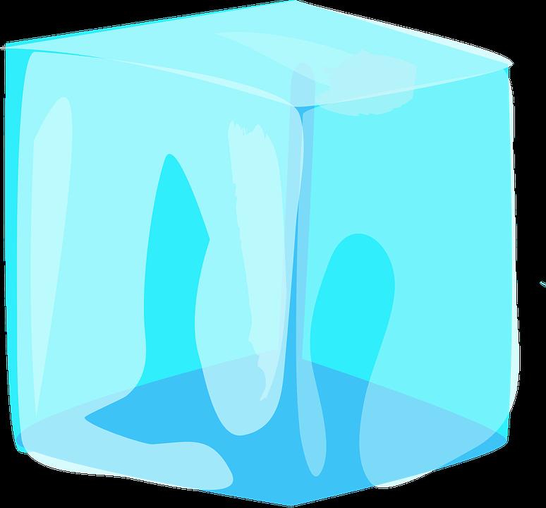 Gelo Cubo Blue Grafico Vetorial Gratis No Pixabay