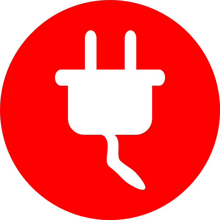 Plug Power Outlet Electricity Cord Pictogram