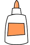 glue, bottle, white