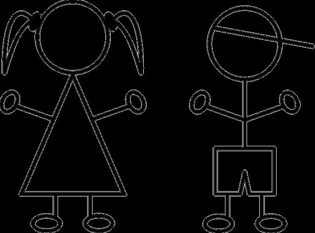 gratis vektorgrafikk  barn  gutt  jente  strektegninger - gratis bilde p u00e5 pixabay