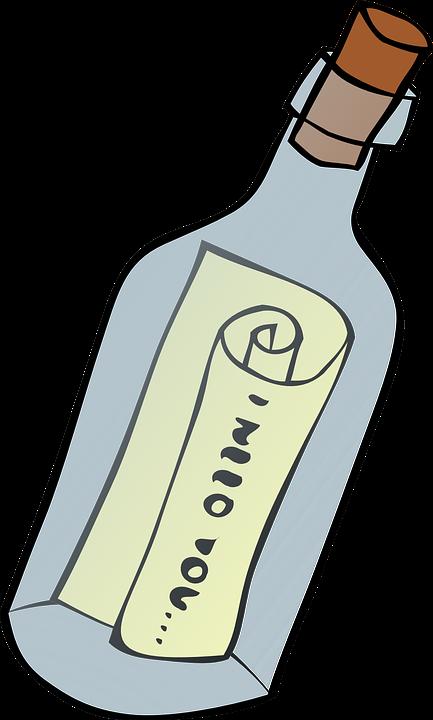 Message, Bottle, Cork, Letter, Scroll, Castaway, Rescue