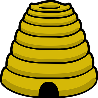 Beehive, Yellow, Cone, Honey, Bee, Bug