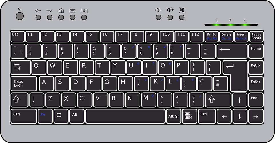 Line Art Keyboard : Free vector graphic keyboard black compact hardware
