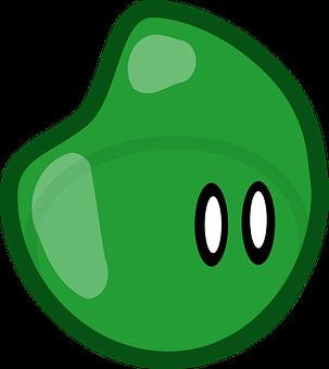 Shape, Creature, Jello, Eyes, Green