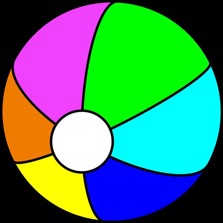 Vector gratis pelota de playa colorido juguete imagen for Bola juguete