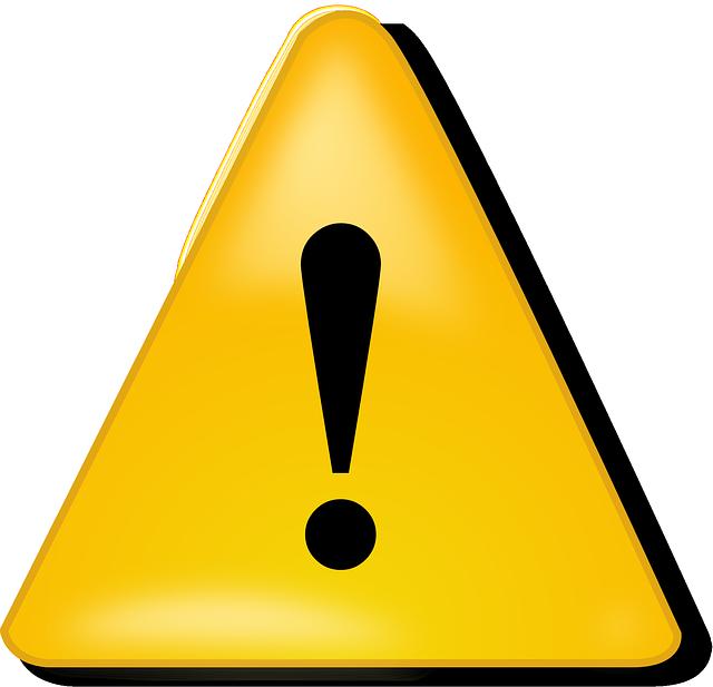 Image vectorielle gratuite danger mise en garde signes image gratuite su - Mise en demeure restitution caution ...