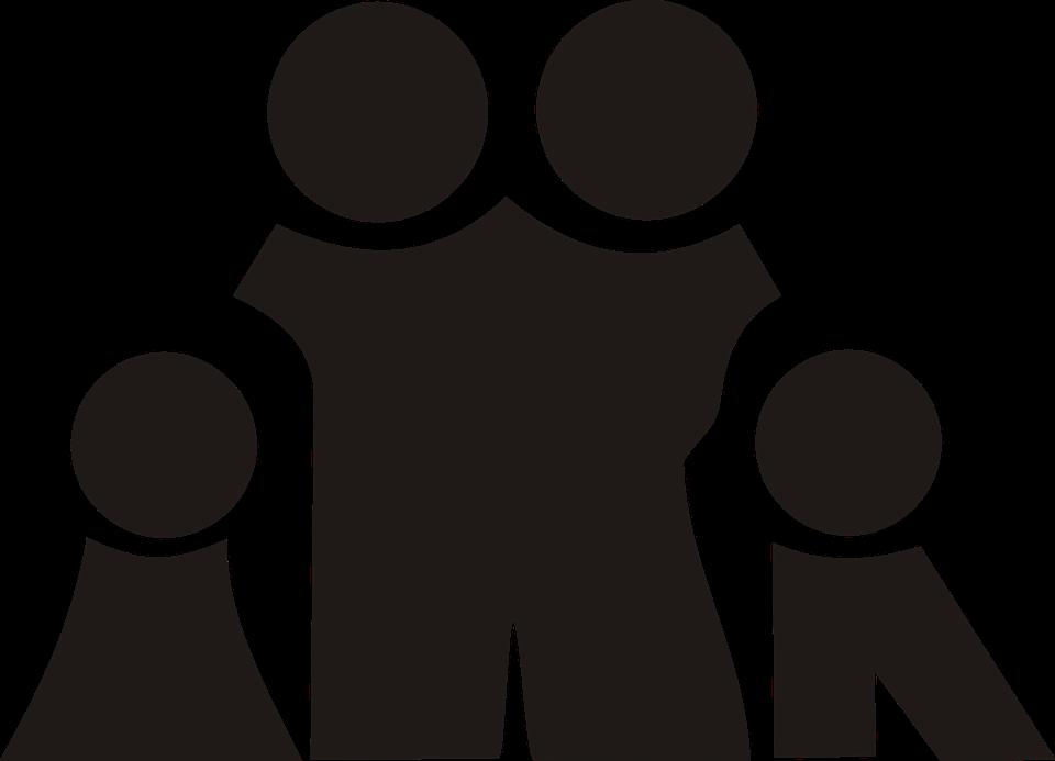 Familia negro silueta gr ficos vectoriales gratis en pixabay - Familias en blanco y negro ...