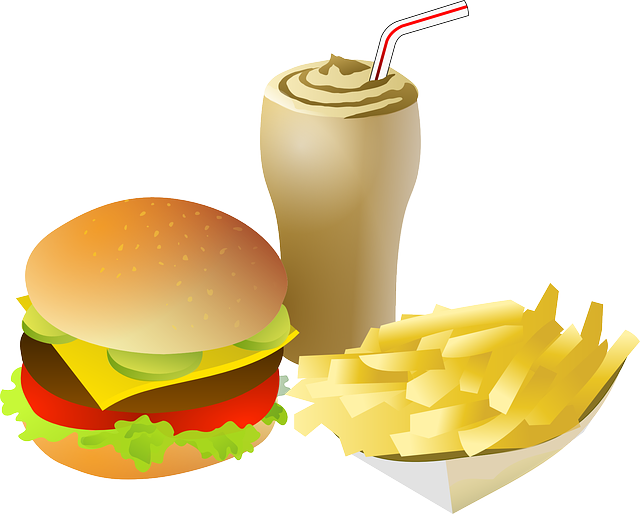 Cheeseburger Drink Fries · Free vector graphic on Pixabay