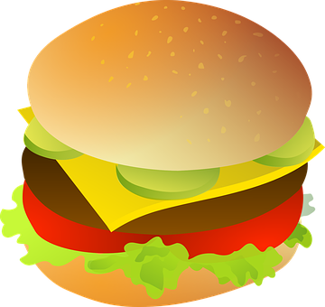 Image result for cheeseburger clipart