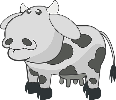 Cow Black And White Animal Mammal Cattle F