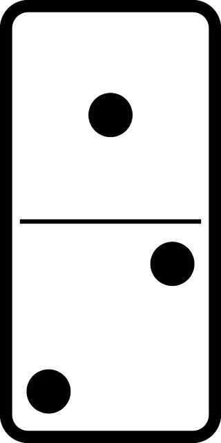 Domino jeux dominos images vectorielles gratuites sur - Coloriage domino ...