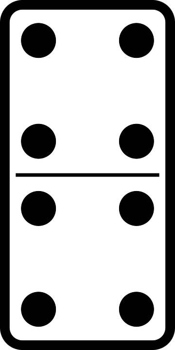 Free vector graphic domino game tile bone play free image on pixabay 34402 for Piece de theatre domino