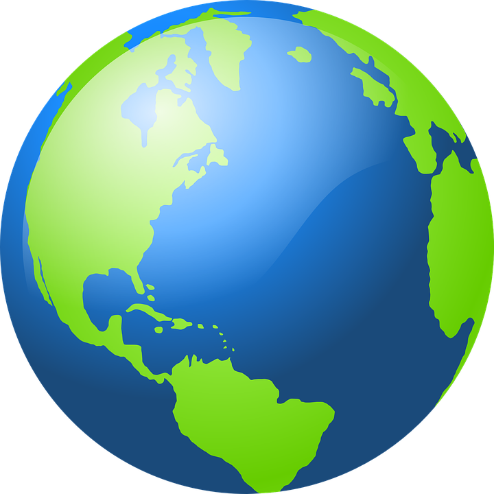 Spherical World Map.Globe Earth World Free Vector Graphic On Pixabay