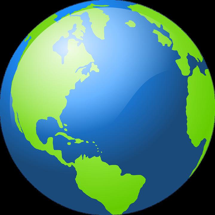 globe earth world map sphere spherical green