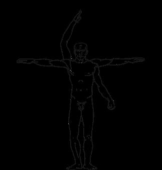 Man Leonardo Vinci Body Human Anatomy Symb