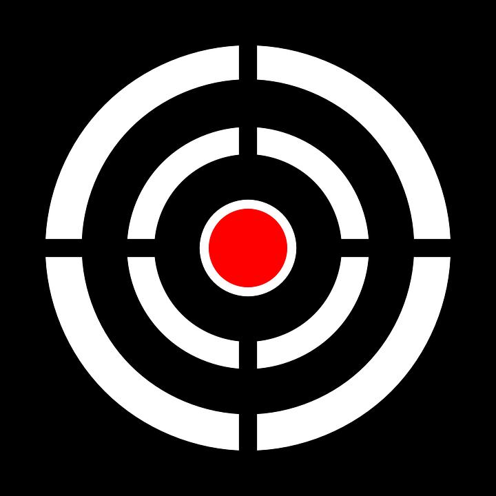 Image Vectorielle Gratuite: Cible, Bullseye, Objectif