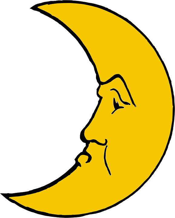 Moon Crescent Face Free Vector Graphic On Pixabay