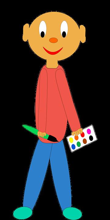 Erkek çocuk Fırça Pixabayda ücretsiz Vektör Grafik