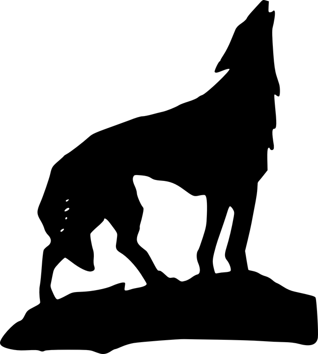 Free Vector Graphic: Wolf, Silhouette, Black, Mammal