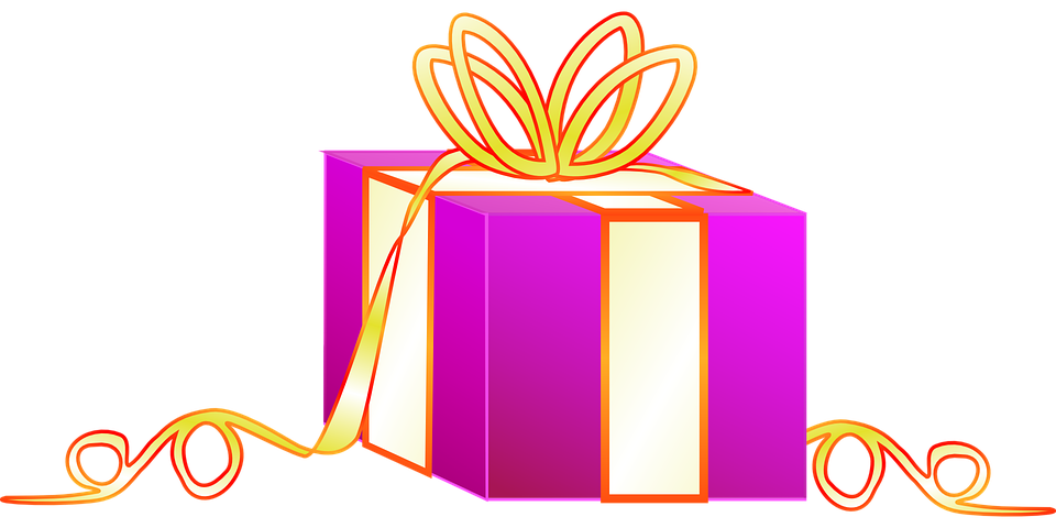 Gift wrapped presents free vector graphic on pixabay gift wrapped presents colorful pink white golden negle Images