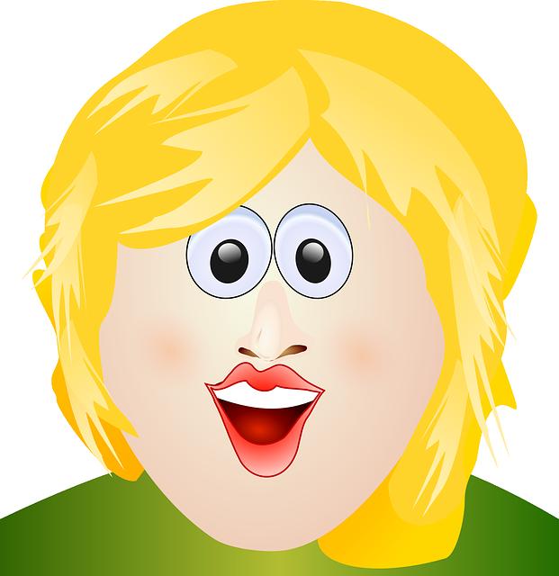Картинка мультяшное лицо девочки