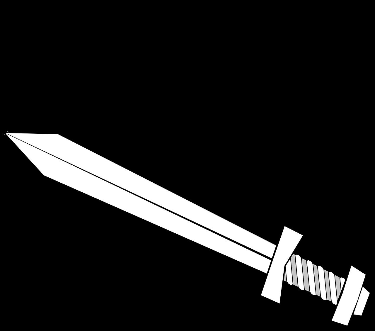щит и меч картинка черно белая этим