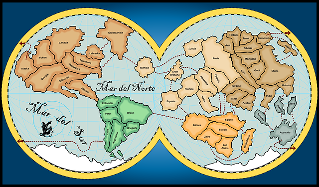 Map world continents free vector graphic on pixabay gumiabroncs Choice Image