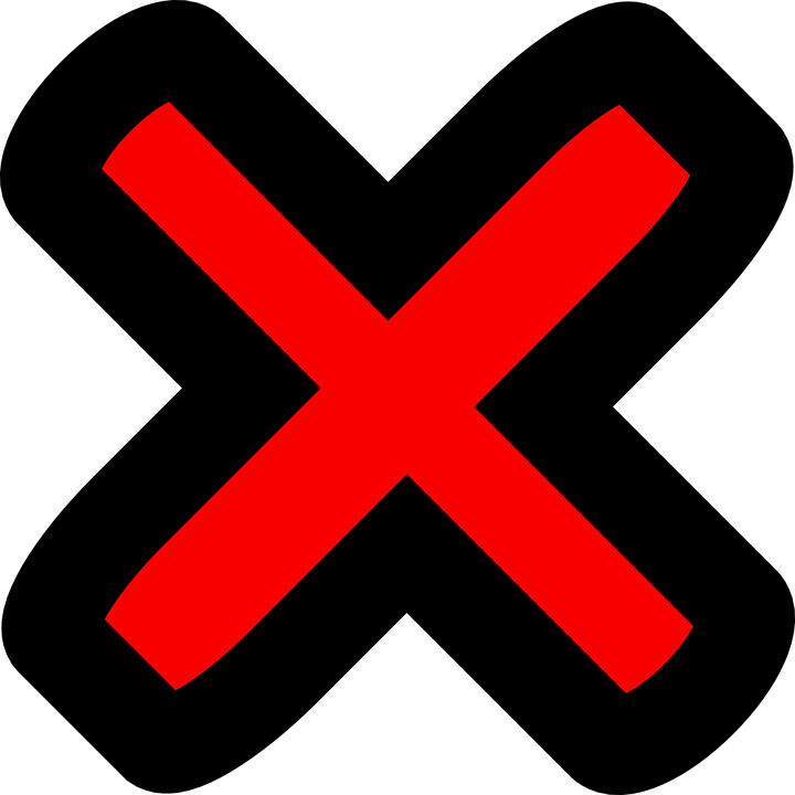 cross error wrong free vector graphic on pixabay