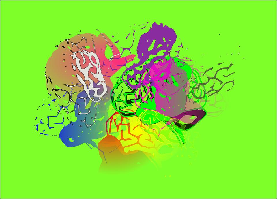 Gambar Vektor Gratis Abstrak Warna Pixabay Latar Belakang Hijau Merah