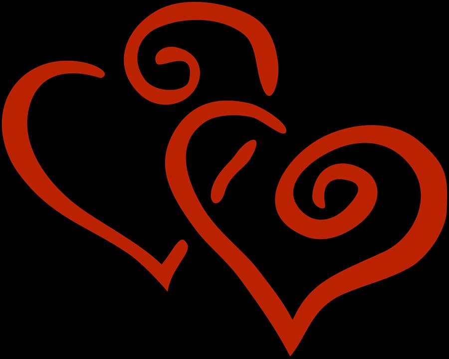 L 39 amour coeur double images vectorielles gratuites sur - Clipart amour ...