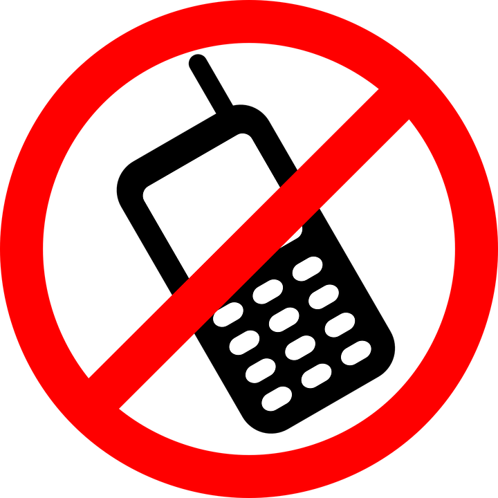No Cellphones, Cellphone Not Allowed, Signage, Mobiles