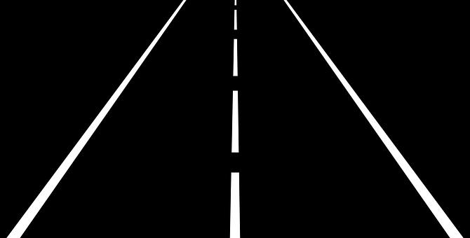 Rodovia, Estrada, Faixas, Asfalto