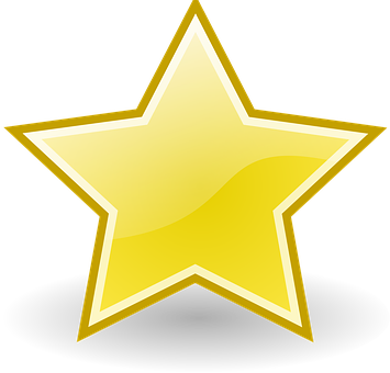 Star, Yellow, Golden, Christmas, Shine