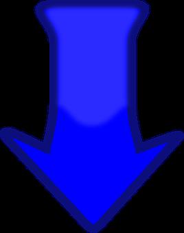 Стрелка, Вниз, Направление, Синий