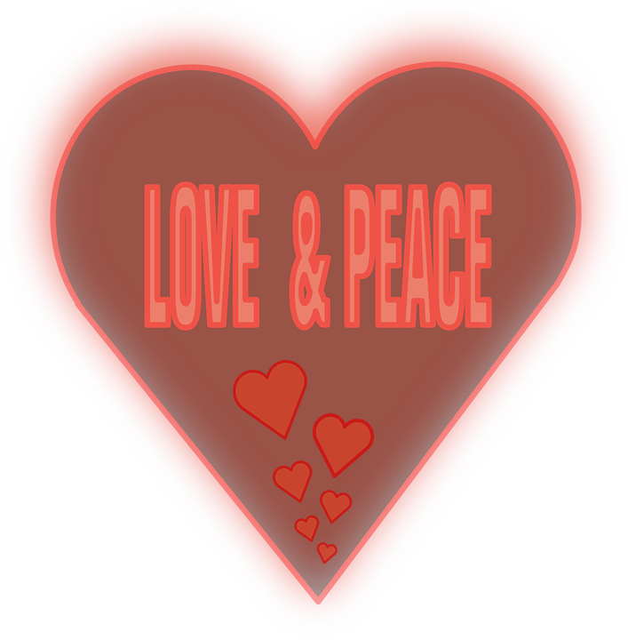 Love Peace Heart Free Vector Graphic On Pixabay