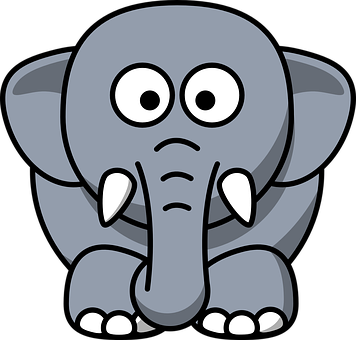 Download 4600 Koleksi Gambar Gajah Kartun Hitam Putih Terbaik HD