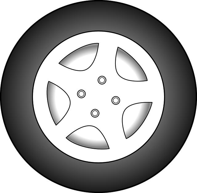 wheel car automobile free vector graphic on pixabay rh pixabay com Tire Tracks Clip Art Monster Tire Clip Art