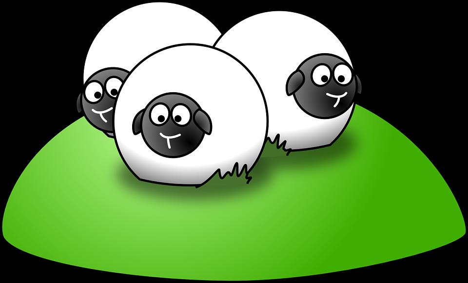 Lammas, Maatalous, Mäki, Ryhmä, Parven, Kolme, Eläimet