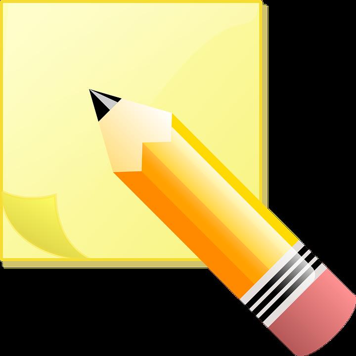 image vectorielle gratuite note papier crayon collant image gratuite sur pixabay 35638. Black Bedroom Furniture Sets. Home Design Ideas