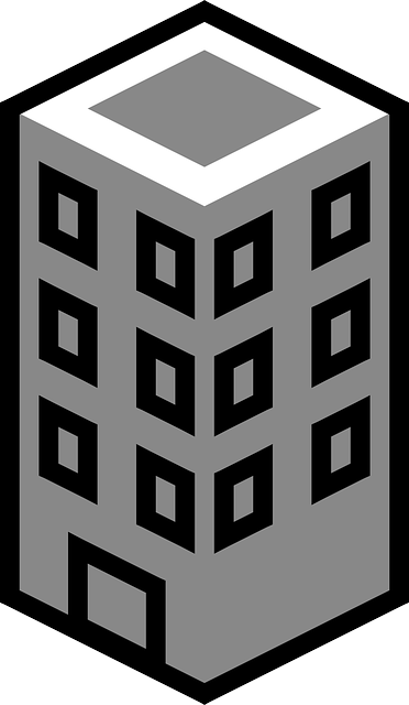 Apartment Building Graphic free vector graphic: building, tower, city, flat, office - free