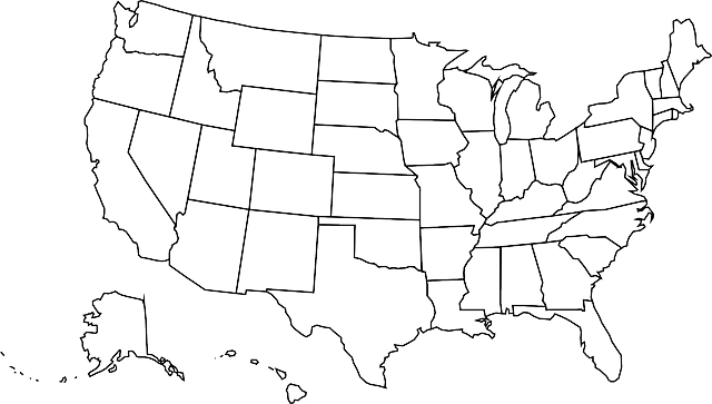 Free Vector Graphic Usa Map United States Of Free Image On - Black and white usa map