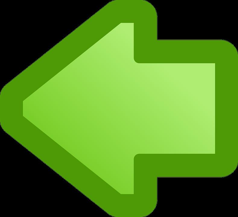 Verde, Izquierda, Flecha, Señalando, Puntero