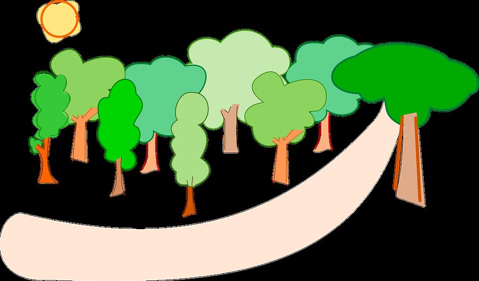 Drzewa Las Natura - Darmowa grafika wektorowa na Pixabay