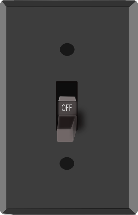 Switch Light Off 183 Free Vector Graphic On Pixabay